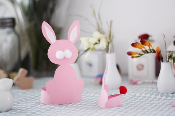 复活节手工 | 剪纸复活节兔子