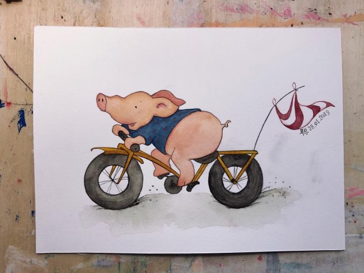 猪年喜气小猪屏保
