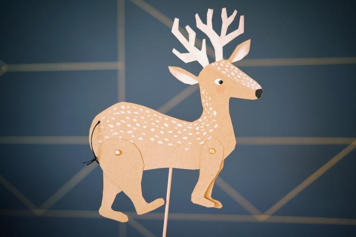 亲子DIY | 驯鹿提线木偶